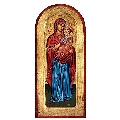 Mary with Jesus Greek Painted Icon by Catholic Gifts USA