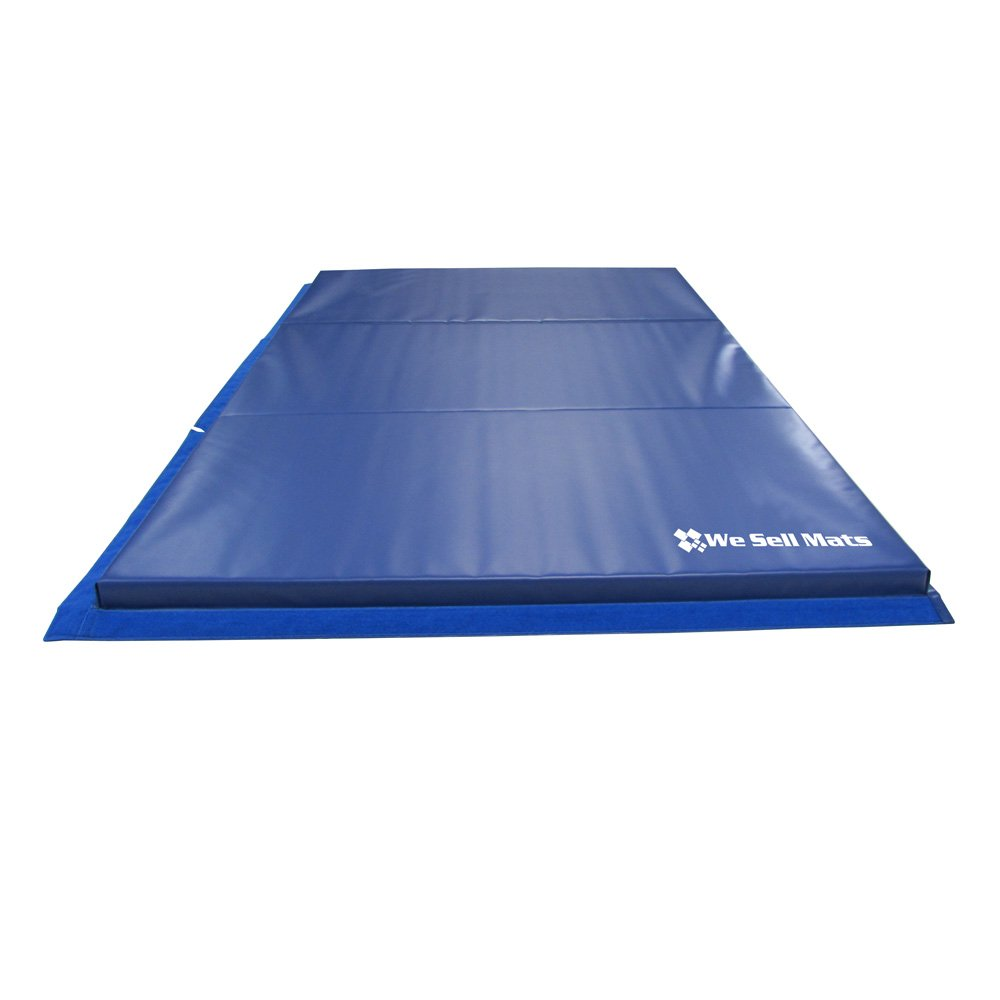 We Sell Mats Thick Gymnastics Tumbling Exercise Folding Mat, Blue, 4' x 6' x 2'' by We Sell Mats (Image #4)