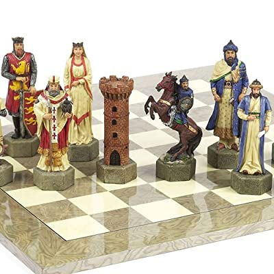 Hand Painted Crusade Chessmen-Giant Size King:6 7/8""
