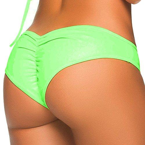 3-5 Days Delivery Sexy Lady Brazilian V-Style Ruched Ruffle Cheeky Bikini Bottom