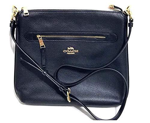 Brand New Womens Coach (F34823) Black Pebbled Leather Mae Crossbody Handbag Bag