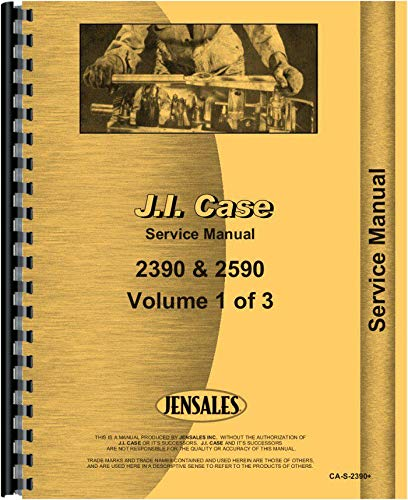 Case 2590 Tractor Service Manual (Includes 3 Volumes) pdf