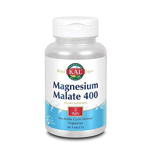 KAL Magnesium Malate, Tablet (Btl-Plastic) 400Mg 90Ct: Amazon.es: Salud y cuidado personal