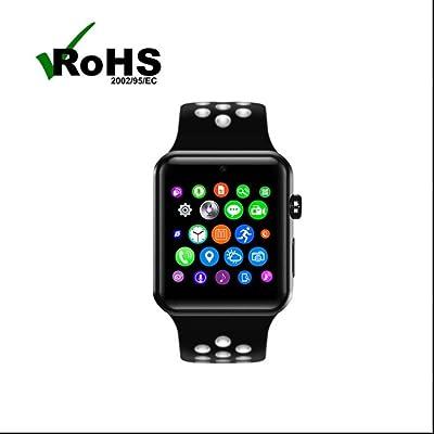 Bluetooth sport montre intelligente Montre Téléphone,Appareil photo à distance,d'Activité Fitness,Compteur de Calories,Tracker Sommeil,Alertes intelligentes,avec Alarme,Step/Calories/Sommeil pour i