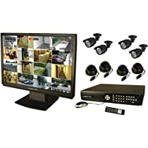 Security Labs 16-Channel DVR System with 22-Inch LCD, 1 TB Hard Drive and 8 Cameras (SLM438)