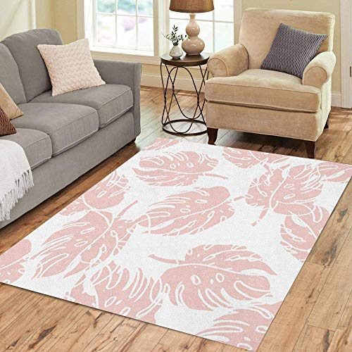 Semtomn Area Rug 5' X 7' Geo Minimal Creative Bohemian Hand Pop Shapes Pastel Colors Home Decor Collection Floor Rugs Carpet for Living Room Bedroom Dining Room