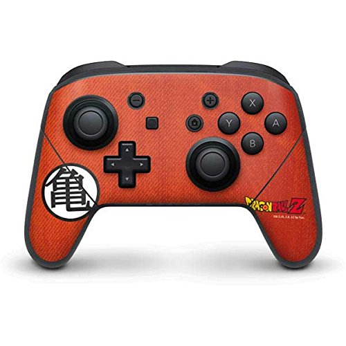 Amazon.com: Skinit Dragon Ball Z Nintendo Switch Pro Controller Skin - Goku Shirt Design - Ultra Thin, Lightweight Vinyl Decal Protection: Video Games