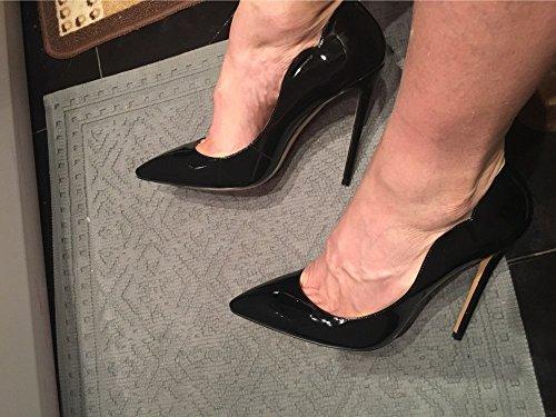 Scarpe Chiuse Donna High Col Edefs Tacco Davanti Ritaglio Classico Nero Scarpa Heels d8aB6qw6