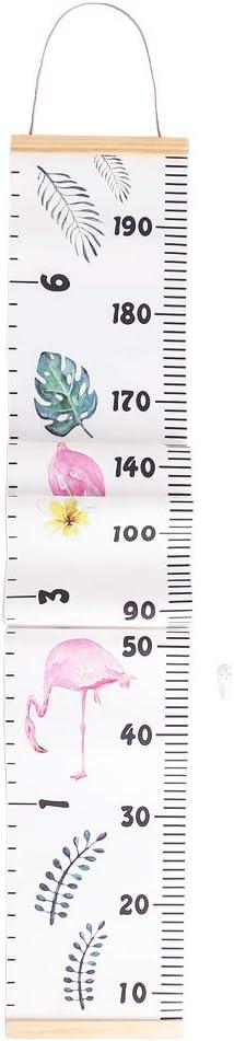 20 x 200cm, Flamenco decalmile Beb/é Tabla de Crecimiento Colgar en Pared Lona Regla de Pared para Medir el Crecimiento Decoraci/ón para de la Habitaci/ón Infantil Ni/ños Ni/ños y Ni/ñas