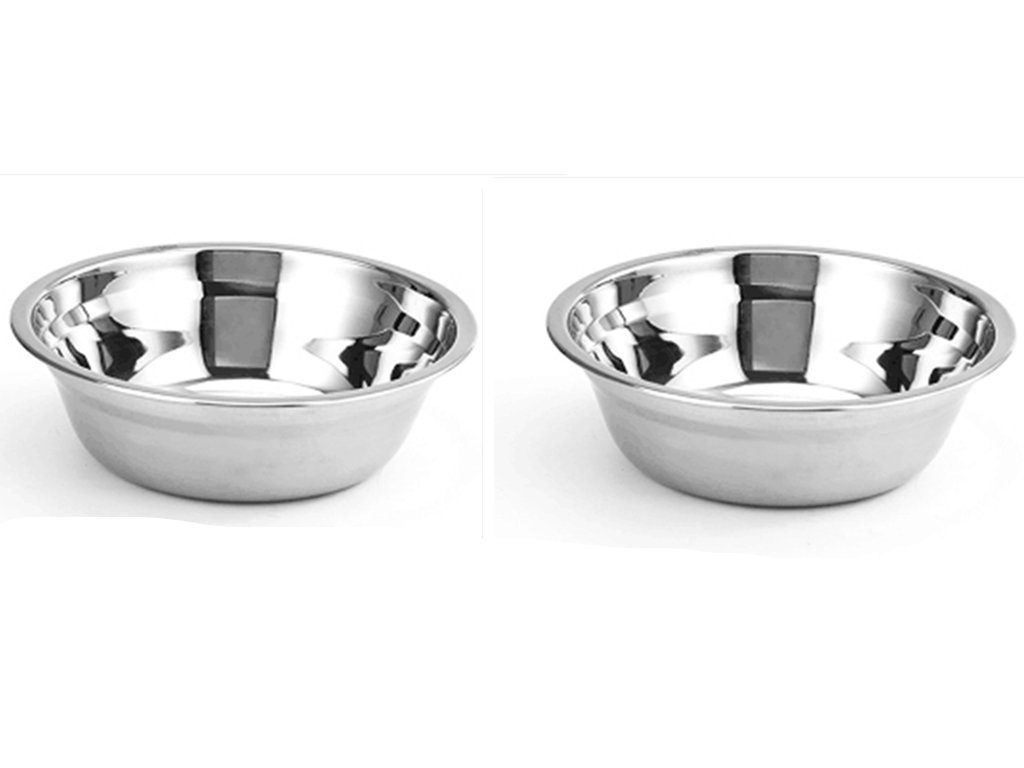 2pack Stainless Steel Soup Bowls/Pasta Bowls/Cereal Bowls/ Stainless Steel Basin Mixing Bowls (14cm) Xin Puhao