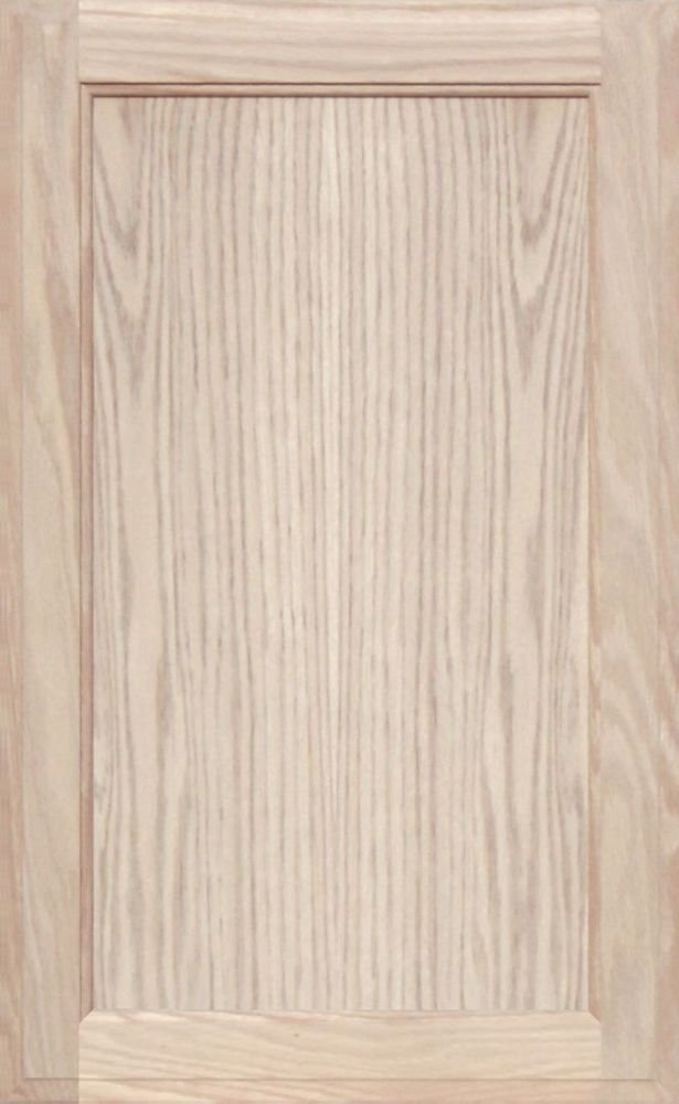 Unfinished Oak Square Flat Panel Cabinet Door by Kendor, 26H x 16W Kendor Wood Inc.