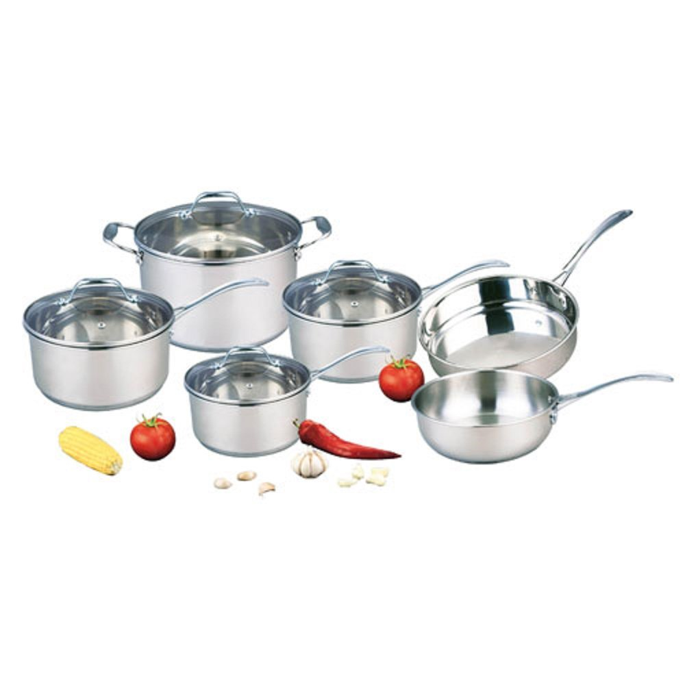 KITCHEN CORNER10 PIECE PROFESSIONAL QUALITY STAINLESS STEEL COOKWARE SET