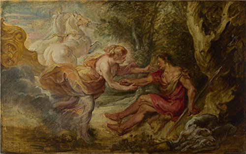 The Polyster Canvas Of Oil Painting 'Peter Paul Rubens Aurora Abducting Cephalus ' ,size: 12 X 19 Inch / 30 X 49 Cm ,this Amazing Art Decorative Canvas Prints Is (Halloween Poems For Second Graders)