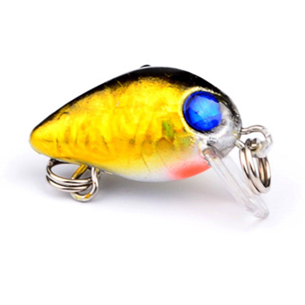 UxradG 10pcs Artificial Fishing Lure Minnow Fish Bass Lures Fishing Bait Hooks Tackle