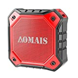 AOMAIS Ultra Portable Wireless Bluetooth Speakers 8W Loud Sound, Waterproof IPX7 Shower Speaker,Stereo Pairing Home Party, Outdoor, Beach, Travel (Red)