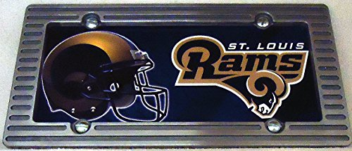 1 , Football Sign of the, SAINT LOUIS RAMS , Metal Sign, Framed with an Alloy Brushed Aluminum Frame,,27B4.0+17B5.4+3001+