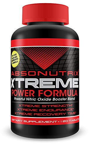 Absonutrix Extreme nitric oxide power blend – 3000mg of Power – 120 Tablets! Xtreme Strength -Xtreme Endurance – Xtreme Recovery Time – 60 Day Money Back Guarantee!!!