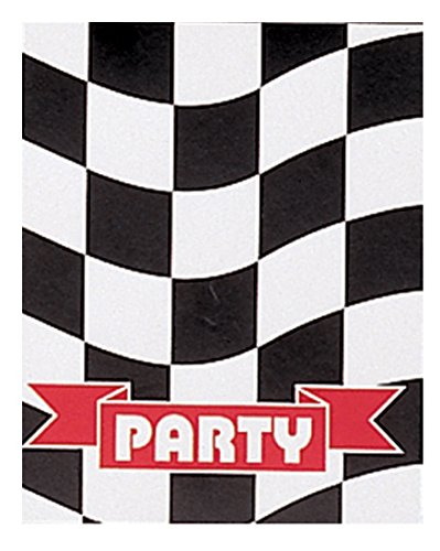 Creative Converting 8 Count Invitations, Black/White -