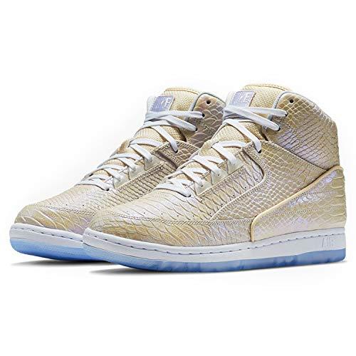 (Nike Air Python PRM Mens Basketball Shoes 705066-101 White White 11 M US)