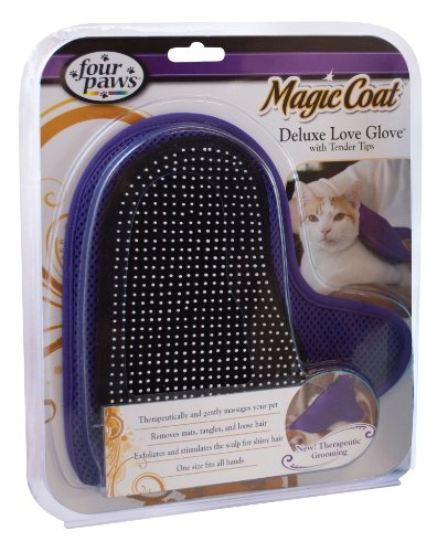 - Four Paws Magic Coat Cat Grooming Deluxe Love Glove with Tender Tips