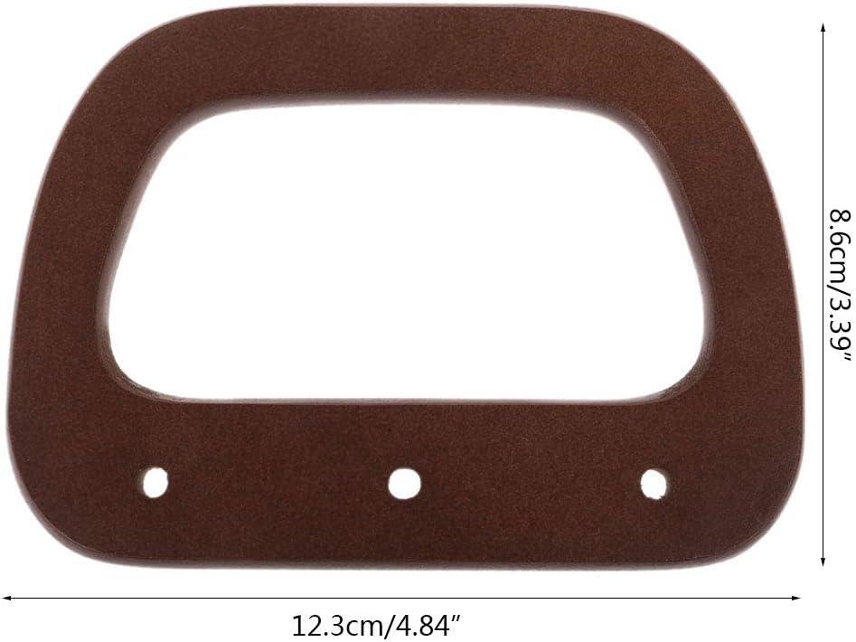 Eliky Taschengriffe Holz Geldb/örse Handtasche Tasche Griff Ersatz F/ür Schulter Crossbody Taschen Geldb/örse Machen