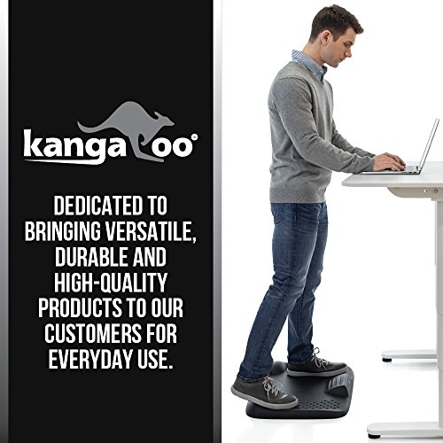 Kangaroo Brands Original Premium Anti-Fatigue Comfort Standing Mat, Not-Flat Ergonomically Engineered Floor Pad, Perfect Active Mats for Kitchen or Office Stand Up Desk, Non-Toxic, Waterproof (Black) by Kangaroo Brands (Image #4)