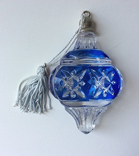Lenox Pave Jewels Color Gems Sapphire Ball Full Lead Crystal Ornament #6115570