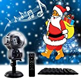 GAXmi Christmas LED Lights Halloween Decorations Music Unicorn Animation Landscape Projector Fairy Decor Flood Lighting for Indoor Outdoor Garden Party