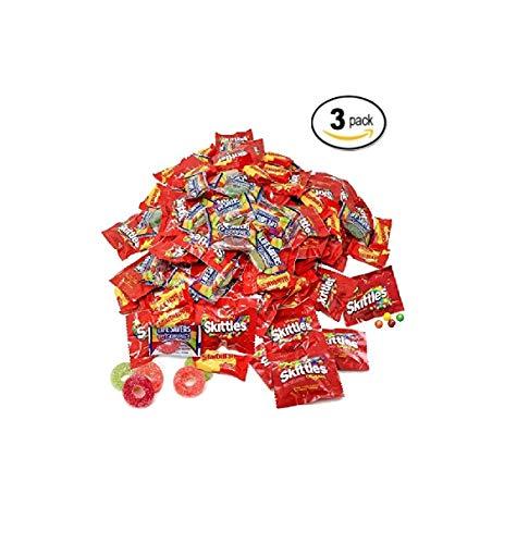 Assorted Bulk 16.47 Lb Starbursts Skittles Lifesavers Big Ring Gummies Skittles Candy Holiday Gifts Candies 549+ Pcs -