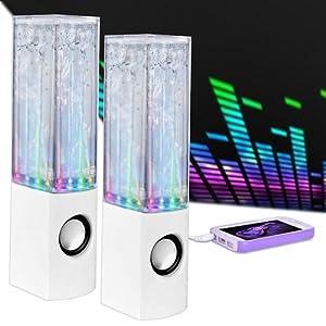 Merkury Innovations Rhythm Universal LED & Water Dancing Stereo Speakers