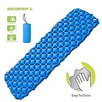 ROCONTRIP Inflatable Sleeping Pad, Ergonomic Moisture-Proof Portable Sleeping Mattress Mat Camping Backpacking Hiking Sleeping Bags HammocksOutdoors