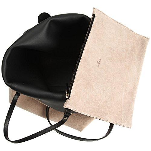 Hogan Borsa Shopping Donna KBW00G00300E68091J Camoscio Beige