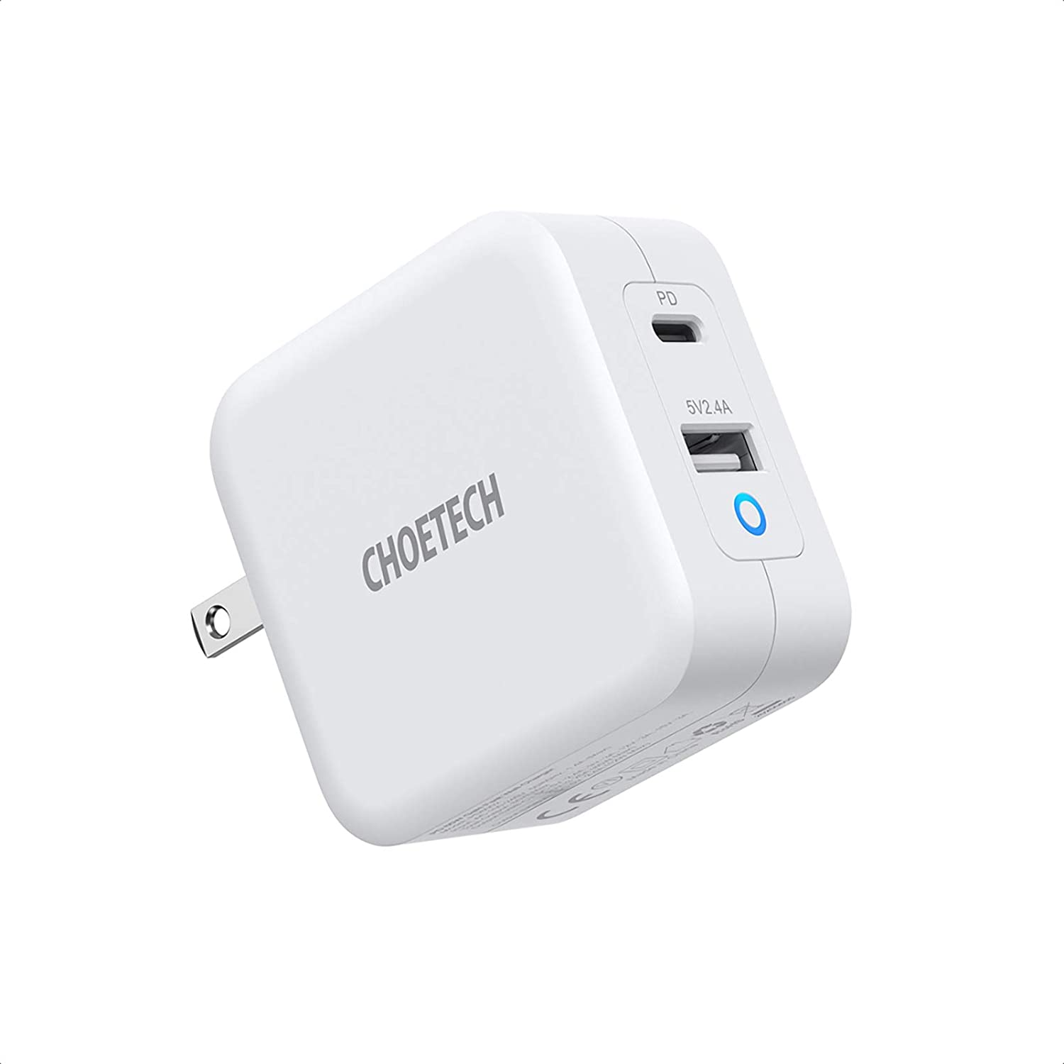 USB C Charger CHOETECH 65W PD 3.0 Fast Charger, GaN Fast Charging USB C Wall Charger 2-Port Portable Charger Adapter for MacBook Pro Air iPad Pro iPhone 11 Pro Max SE Nintendo Galaxy and More
