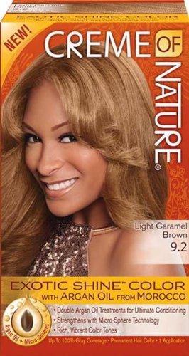 Creme Of Nature Exotic Shine Haarfarbe 9 2 Helles Karamel Braun