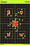 """12""""x18"""" Sight In Splatterburst Target - Instantly See Your Shots Burst Bright Florescent Yellow Upon Impact!"""