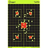 """50 Pack - 12""""x18"""" Sight In Splatterburst Target - Instantly See Your Shots Burst Bright Florescent Yellow Upon Impact!"""