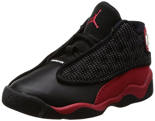NIKE Air Jordan 13 Retro TD Black/Red 414581-004 (Size: 10C) by NIKE