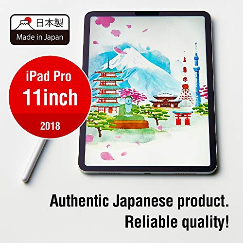 Elecom iPad Screen Protector 11-inch, Paper-Feel Film, Made in Japan, 3H Hardness Tempered level to protect against scratches, Anti-Fingerprint Coating, No Air Bubbles / TB-A18MFLAPL