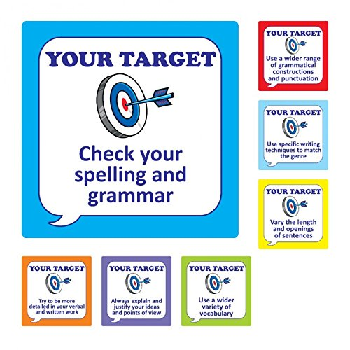 280 English Speech Bubble Target Stickers Bumper Pack for Teachers Parents /& Schools