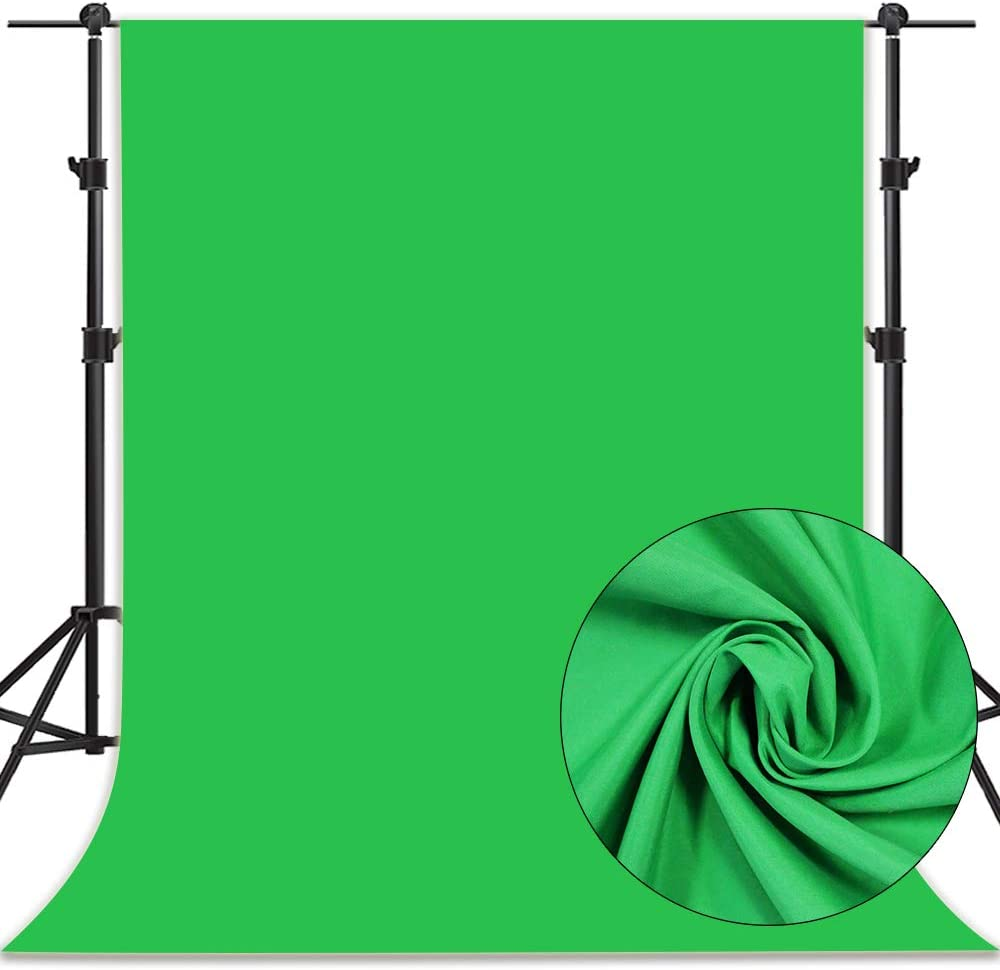 6x9ft Green Screen Backdrop Chromakey Background Screen for Photo Video Photography and Television Photo Booth Studio Props KXB003