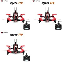3 x Quantity of Walkera Rodeo 110 FPV Racing Quadcopter Rodeo 110 RTF Rodeo 110 RTF1 with Devo 7 FPV Camera F3 Main Controller Battery Charger Kit