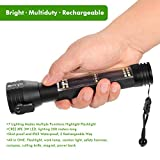 LED Flashlight,OxyLED Solar Power Flashlight & USB Rechargeable Multi-functional LED Flashlight,7 lighting modes,waterproof,with Car Emergency Tool, Attack Hammer,Cutting Knife,Magnet,Compass