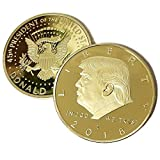 2 PACK The Official 2018 Gold Donald Trump Commemorative Coin - Authentic 24k Gold Collectible Coin of 45th United States President - Republican Collectibles Challenge Memorabilia Gift [CASE INCLUDED]