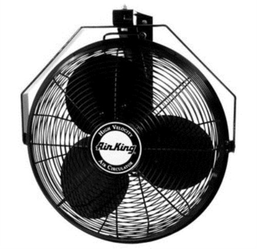 (Air King 9518 18-Inch Industrial Grade Wall Mount Fan, 1/6-Horsepower)