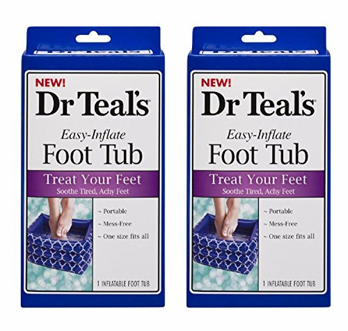 Foot Soak Tubs - Dr. Teal's Inflatable Foot Tub (Pack of 2)