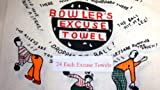 24 Each Bowling Fun Comic Excuse Towel 15'' X 24'' Giant Bowler Exlarge Size Gift Quick