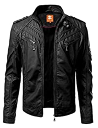 2nd Skin Slimfit Fashion, Biker Lambskin Leather Jacket, for Men in Black Shade for Sale on Amazon (L)