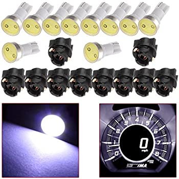 CCIYU 10 Pack White T5 Twist Socket PC74 A/C Climate Control Light Bulb 37 73 17 T5 Led Bulbs