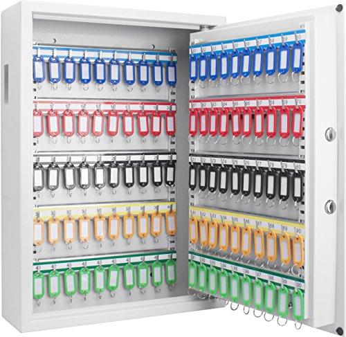 Steel 100 Key Cabinet with Electronic Keypad Lock Box, - Digital Electronic Keypad