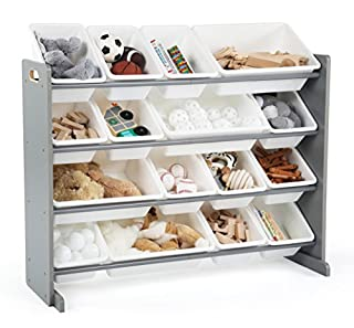 Tot Tutors WO701 Springfield Collection Supersized Wood Toy Storage Organizer, Extra Large, Grey/White (B07CF7HWPL) | Amazon Products